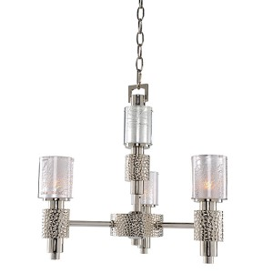 Ashington Polished Satin Nickel Three-Light Mini Chandelier