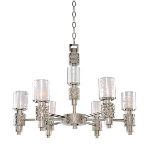 Ashington Polished Satin Nickel Six-Light Chandelier