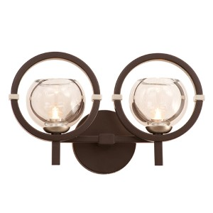 Lunaire Old Bronze Two-Light Wall Bracket