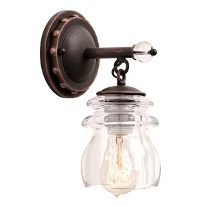 Brierfield Antique Copper One-Light Bath Fixture