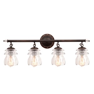 Brierfield Antique Copper Four-Light Bath Fixture