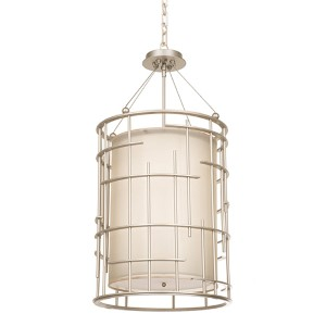 Atelier Tarnished Silver Eight-Light Chandelier
