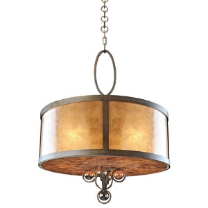 Sandhurst Antique Brass Five-Light Pendant