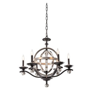 Rothwell Polished Satin Nickel Six-Light Chandelier