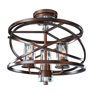Eternity Etruscan Bronze Three-Light Semi-Flush