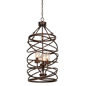 Eternity Etruscan Bronze Four-Light Foyer Pendant