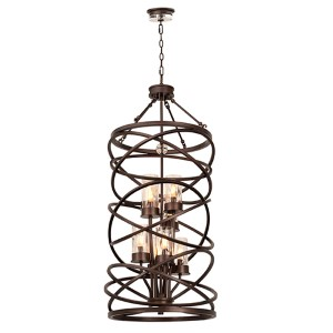 Eternity Etruscan Bronze Eight-Light Foyer Pendant