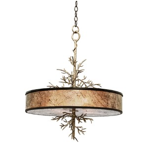 Oakham Bronze Gold Four-Light Pendant