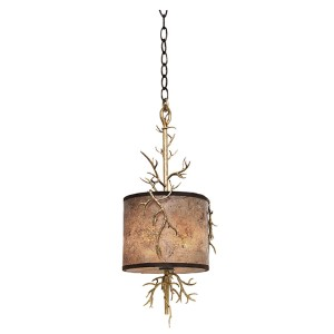 Oakham Bronze Gold Two-Light 10-Inch Wide Mini Pendant