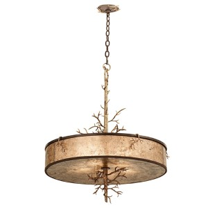 Oakham Bronze Gold Five-Light Pendant
