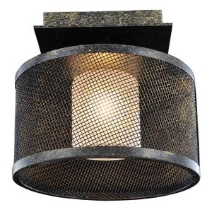 Stanley Volcano Bronze One-Light Semi-Flush