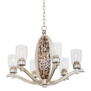 Largo Tarnished Silver Six-Light Chandelier