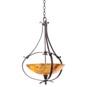 Mateo Hierloom Bronze Three-Light Pendant