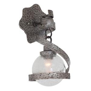 Odessa Hammered Silver One-Light Wall Bracket