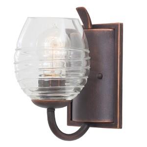 Seabrook Antique Copper One-Light Bath Fixture