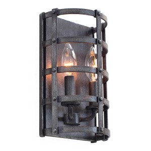 Townsend Vintage Iron 6.5-Inch High Two-Light Wall Sconce