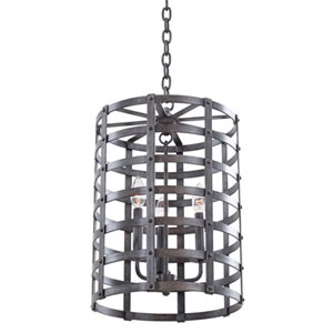 Brierfield New Copper Three Light Pendant