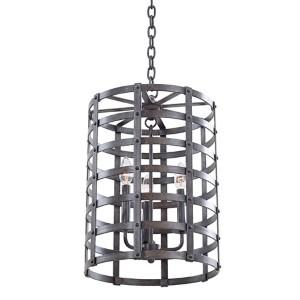 Townsend Vintage Iron 20.5-Inch High Three-Light Lantern