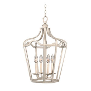 Brierfield Pearl Silver Six Fourteen Inch Light Pendant