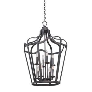 Livingston Charcoal Six-Light Medium Lantern