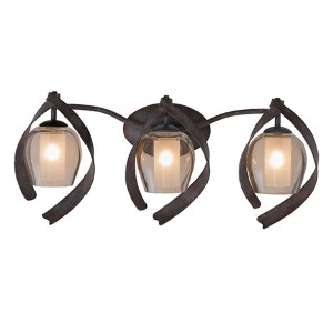 Solana Oxidized Copper Three-Light Bath Fixture