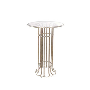 Biscayne Platinum Forty Two Inch Accent Table