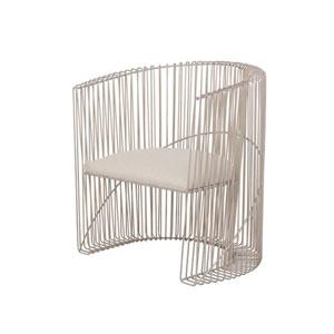 Metro Pearl Silver Chair