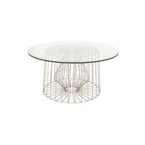 Metro Pearl Silver Eighteen Inch Accent Table