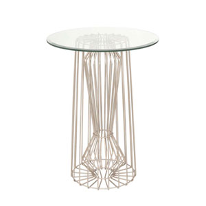 Metro Pearl Silver Forty Inch Accent Table