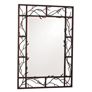 Rectangular Bark Vine Mirror