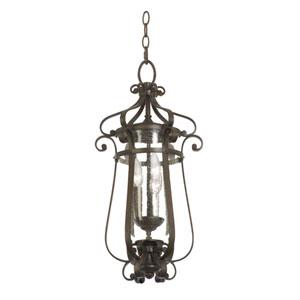 Hartford Outdoor Antique Copper 3-Light 11-Inch Lantern