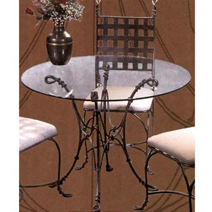 Vine Glass-top Table