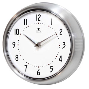 Retro Silver Metal Wall Clock