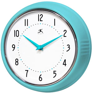 Retro Turquiose Wall Clock