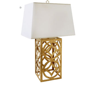 Lee Distressed Gold Table Lamp