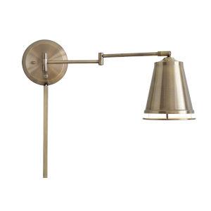 Metro Antique Brass Swing Arm