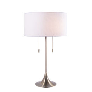 Stowe Antique Brass Two-Light Accent Table Lamp