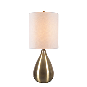 Droplet Antique Brass One-Light Table Lamp