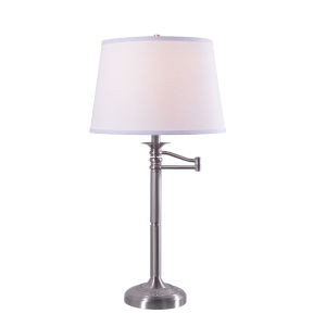 Riverside Brushed Steel One-Light Accent Table Lamp