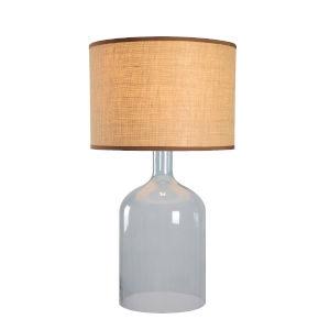 Capri Light Blue Glass One-Light Shaded Table Lamp