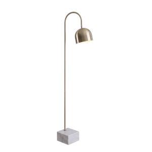 Maverick Antique Brass One-Light Shaded Floor Lamp