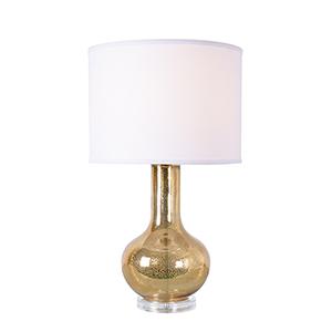 Golden Sea Gold Antique Mercury Glass One-Light Table Lamp
