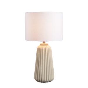 Ziggy Cream Ceramic One-Light Shaded Floor Lamp