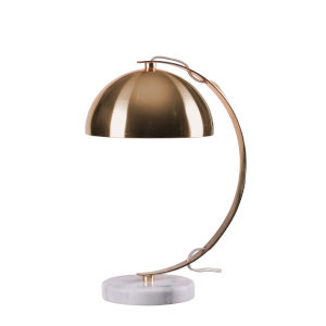 Bubble Plated Gold and Marble Base One-Light Desk Lamp
