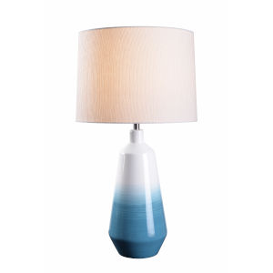 Kailey Sky Blue Ombre Ceramic One-Light Accent Table Lamp