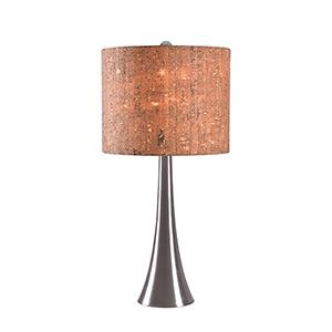 Bulletin Brushed Steel One-Light Table Lamp