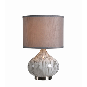 Annalie Marble Textured Glass One-Light Accent Lamp