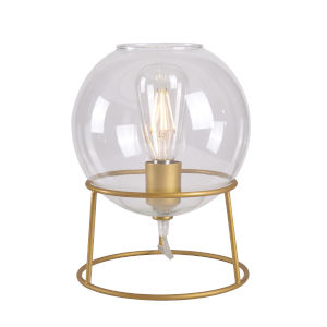 Planet Gold and Clear Glass One-Light Accent Table Lamp