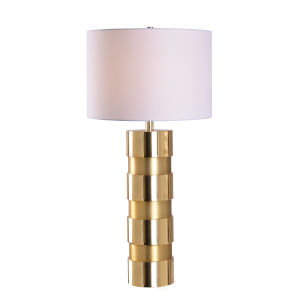 Leland Shiny Gold and Matte Gold One-Light Accent Table Lamp