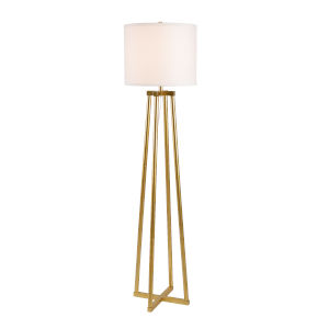 Annalee Painted Gold One-Light Shaded Floor Lamp